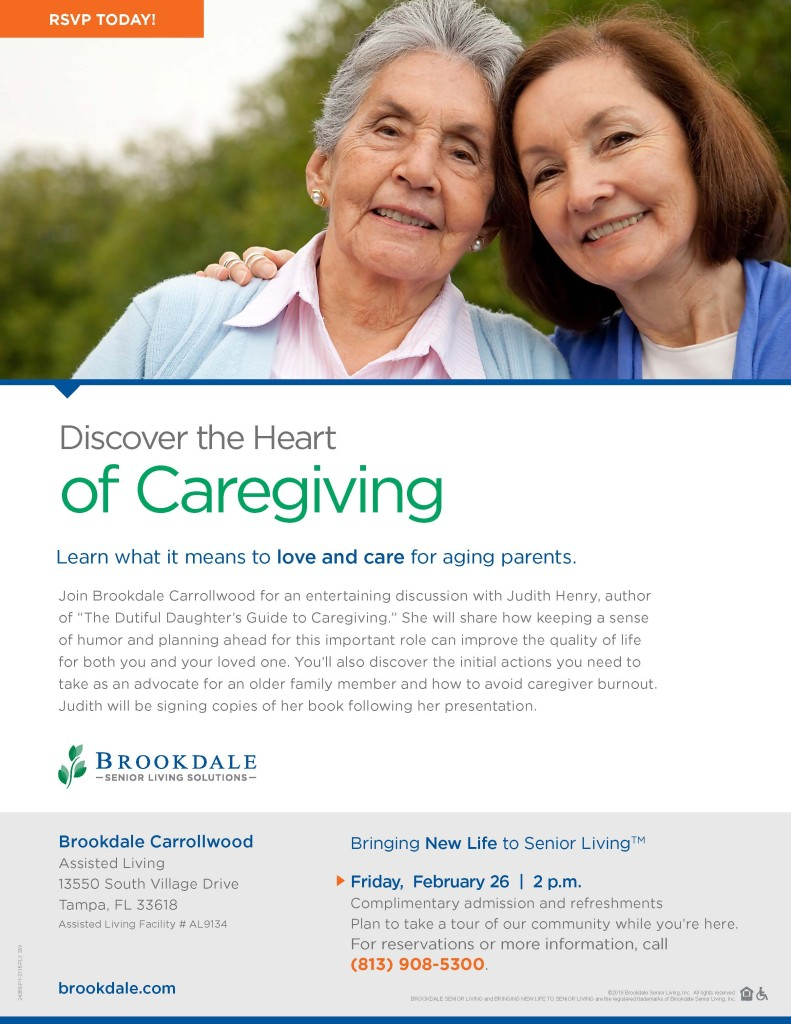 Bdale Caregiver Author event flyer 2016