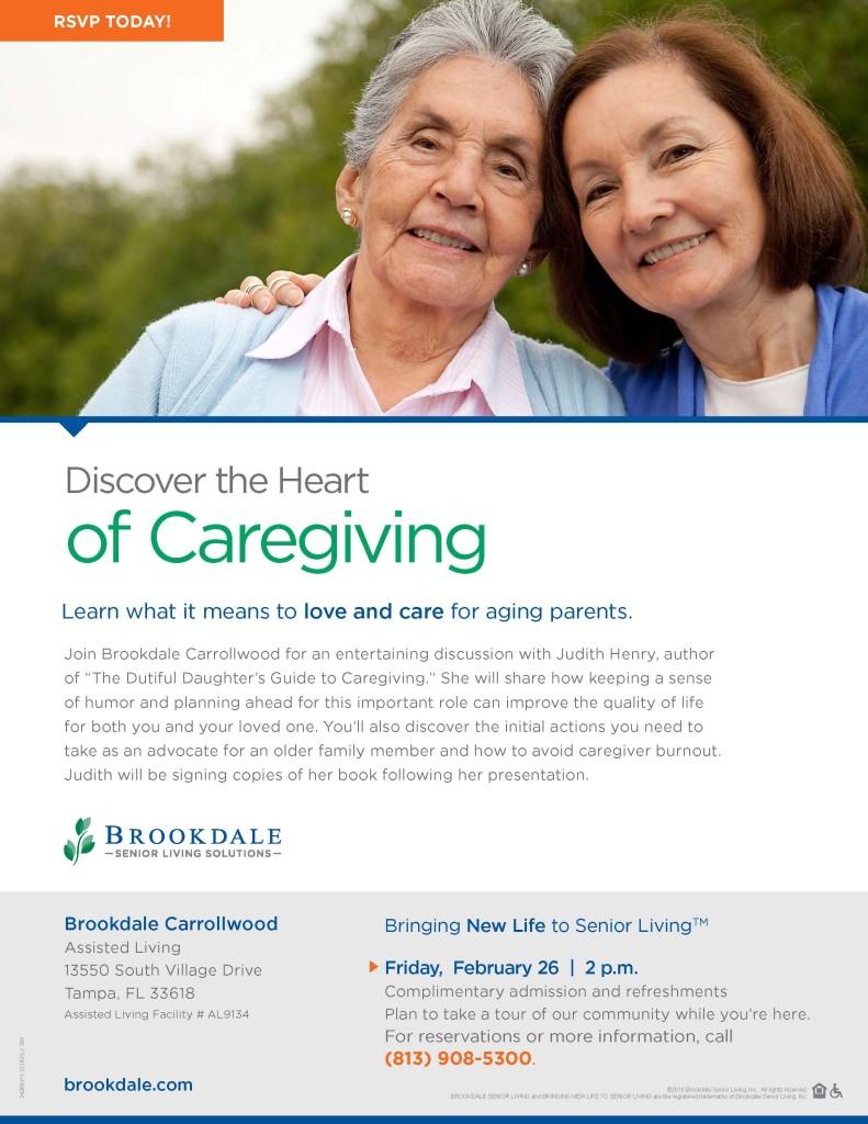 Bdale Caregiver Author event flyer 2016